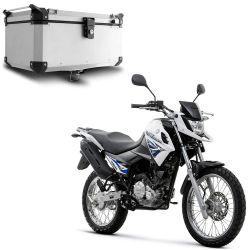 Bauleto Traseiro 56L Crosser 150 Aluminio Escovado Roncar