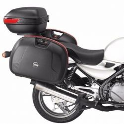 Bauletos Givi E360 (PAR) + Suporte Lateral Versys 650 16/.. Chapam