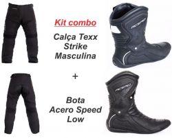 Calça Texx Strike Masculina + Bota Acero Speed Low