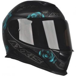 Capacete Axxis Eagle Flowers Preto/Azul