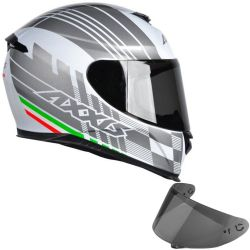 Capacete Eagle Italy Branco + Viseira Axxis