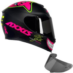 Capacete Eagle MG16 Celebrity Edition by Marianny Preto Fosco + Viseira Axxis