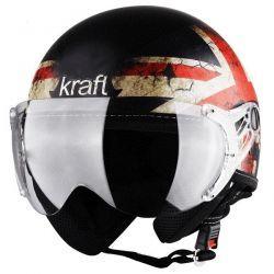 Capacete Uk Preto Fosco Kraft Plus