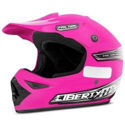 Capacete Motocross Liberty MX Pro Rosa