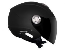 Capacete Mt City Aberto Solid Matt Black