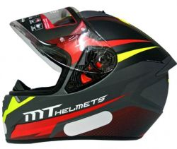 Capacete Mt Stinger Divided Matt Grey/Red/Yellow