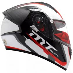 Capacete Mt Stinger Spiker Black/White/Red