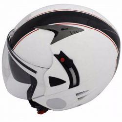 Capacete SH70 Stripes Branco e Preto Nasa