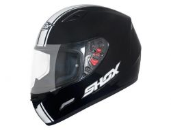 Capacete Shox Mugello Speed Black White