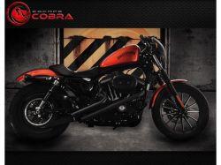 Escapamento HD883 / 1200 Sport Fúria Black Teflon Cobra