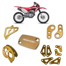 Kit Acessórios Dourados CRF250 Oxxy