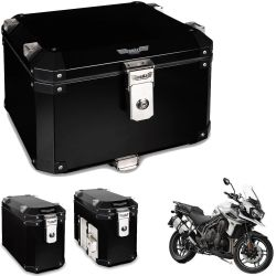 Kit Bauletos 43L Tiger Explorer 1200 Aluminio Preto Bráz
