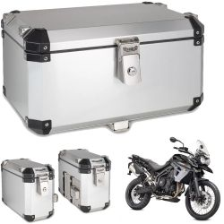 Kit Bauletos 55L Tiger 800 Aluminio Escovado Bráz