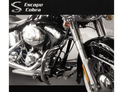 Mata cachorro tubular HD Softail Heritage  Cobra
