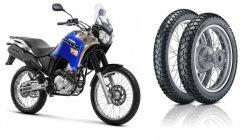 Par de pneus 130/80-18 e 90/90-21 Vipal TR300 Tenere 250