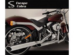 Ponteira HD Softail Breakout Sport Chanfro regulável Cromado  Cobra