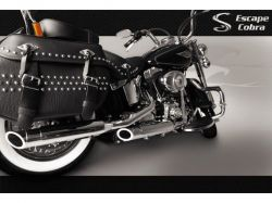 Ponteira HD Softail Deluxe Sport Chanfro regulável Cromado  Cobra