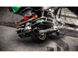 Ponteira HD Touring Sport Street Glide Cromado Chanfro regulavel  Cobra