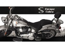 Sissybar HD Softail Fat Boy Cromado  Cobra