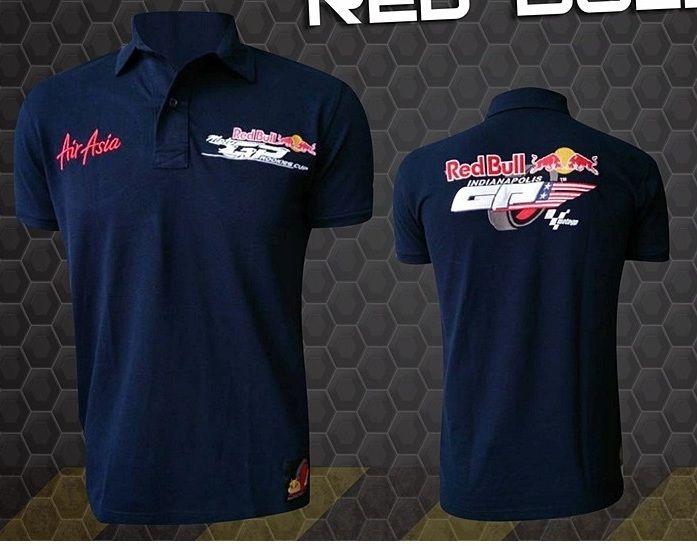 Camiseta Polo Red Bull Powered Preta