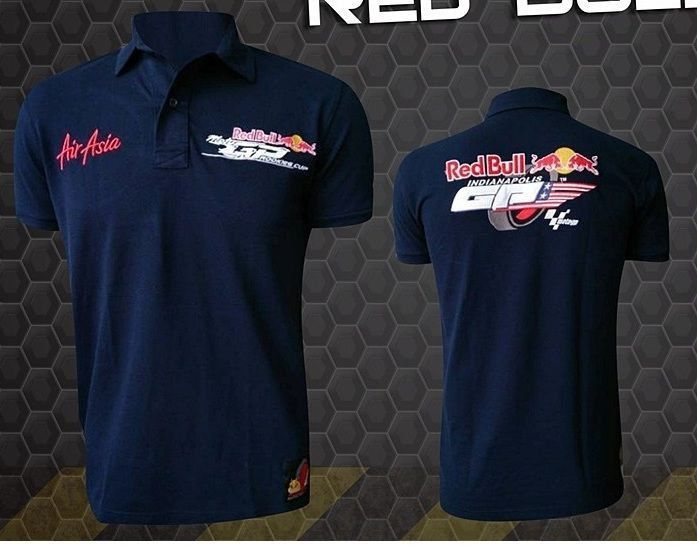 Camiseta Polo Red Bull Powered Preta  - Motorshopp