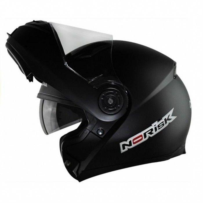 Capacete Norisk FF370 Mono Preto Fosco Escamotiavel  - Motorshopp