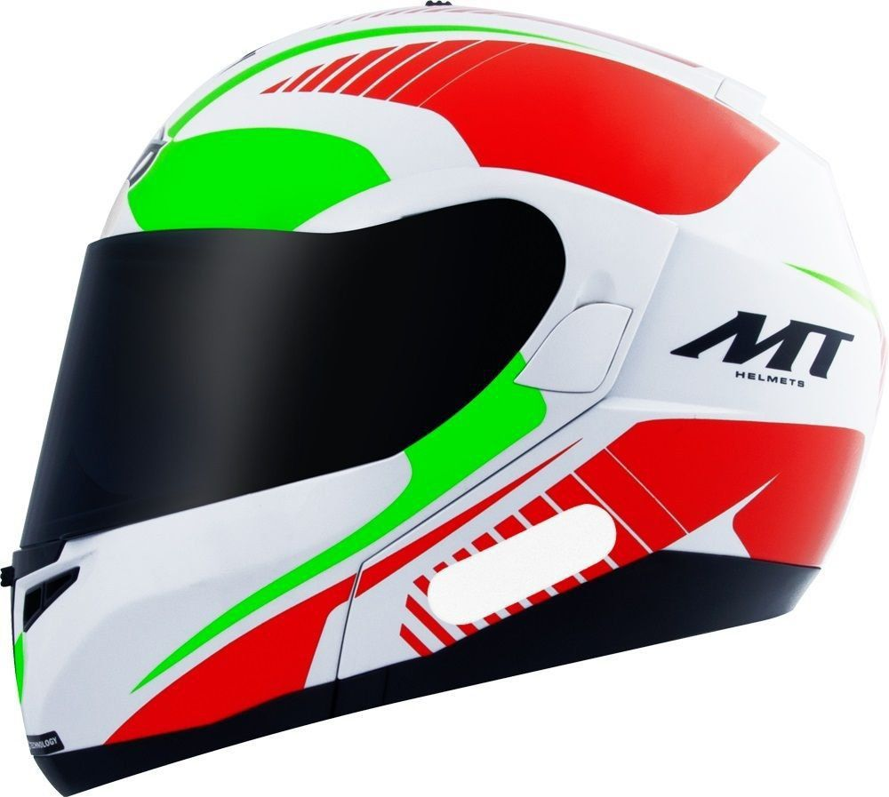 Capacete MT Optimus Quest Gloss Red Green