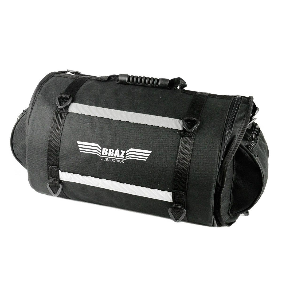 Alforge Traseiro Roll Bag para Moto Big Trail 26 Litros Bráz  - Motorshopp