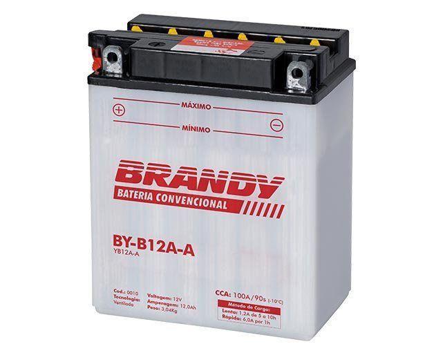 Bateria com Solução Brandy BY-B12A-A - Shadow Cb 400 Virago  - Motorshopp