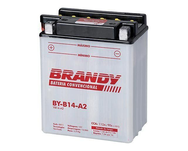 Bateria com Solução Brandy - BY-B14-A2 - Cb Cbx 750  - Motorshopp