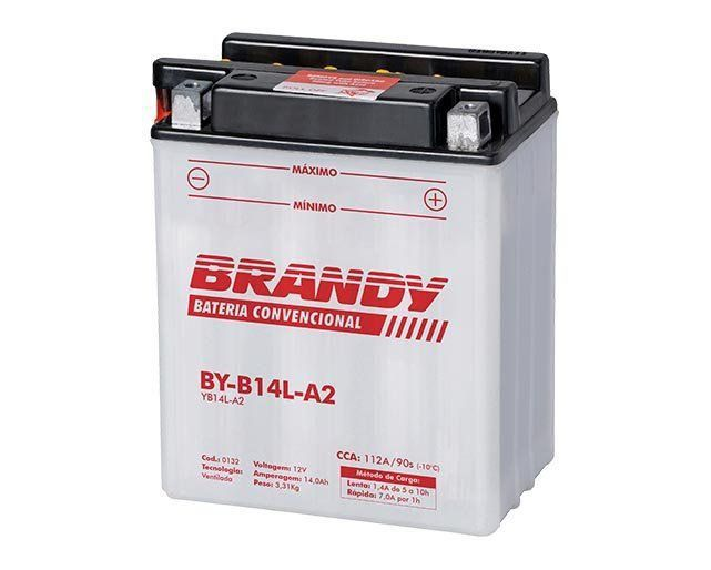 Bateria com Solução Brandy - BY-B14L-A2 - ZX-10 Vulcan 750  - Motorshopp