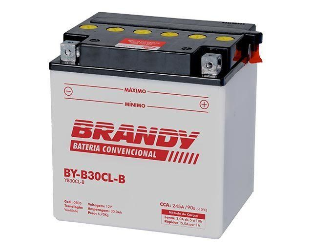 Bateria com Solução Brandy - BY-B30L-B - Harley Davidson