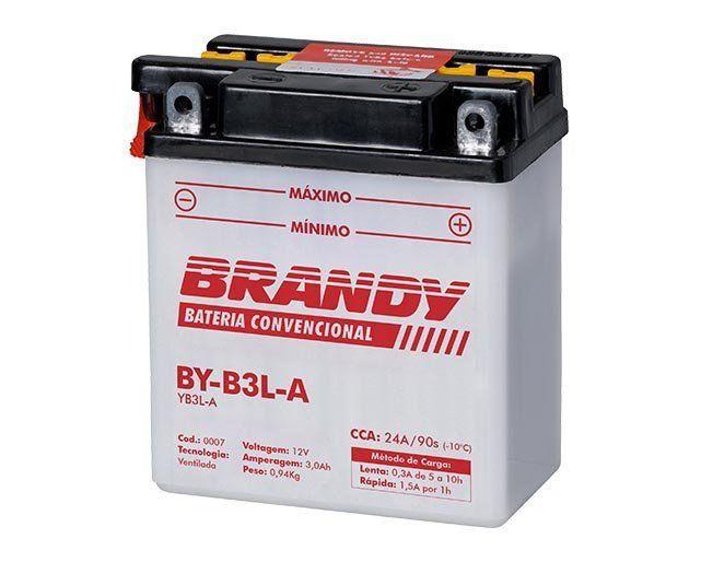 Bateria com Solução Brandy - BY-B3L-A - Dt 180 Xlx 250  - Motorshopp