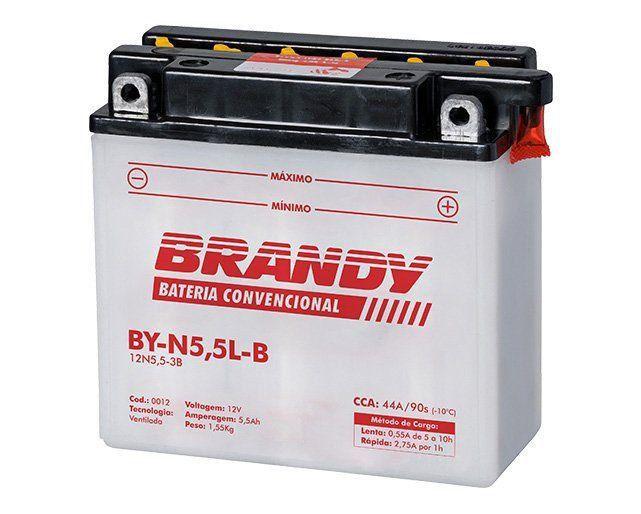 Bateria com Solução Brandy - BY-N5.5L-B - Rd Rdx Ybr