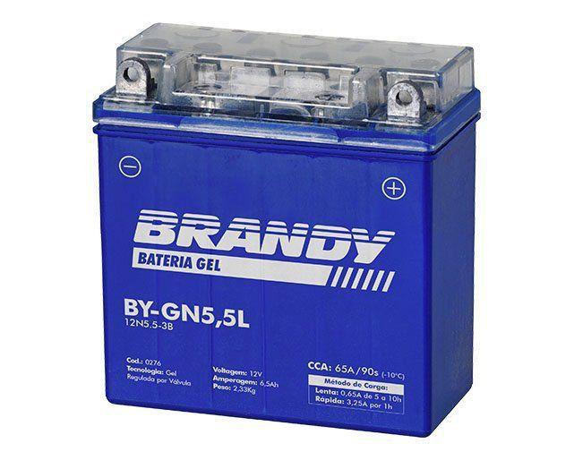 Bateria em Gel Brandy - BY-GN5.5L - Ybr Rd Rx Explorer