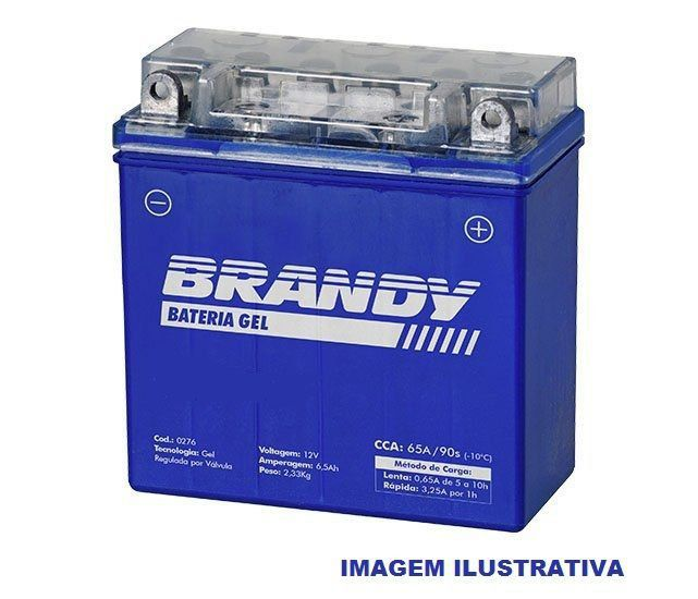 Bateria em Gel Brandy - BY-GT12B - Hypermotard Multistrada  - Motorshopp