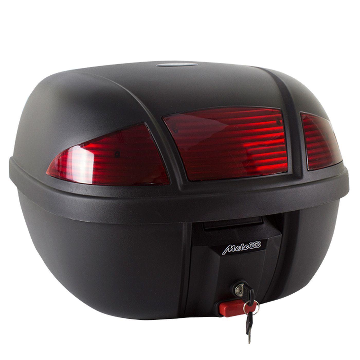 Bauleto Melc 33L Vermelho + Bagageiro CB 500 X Bráz Acessórios