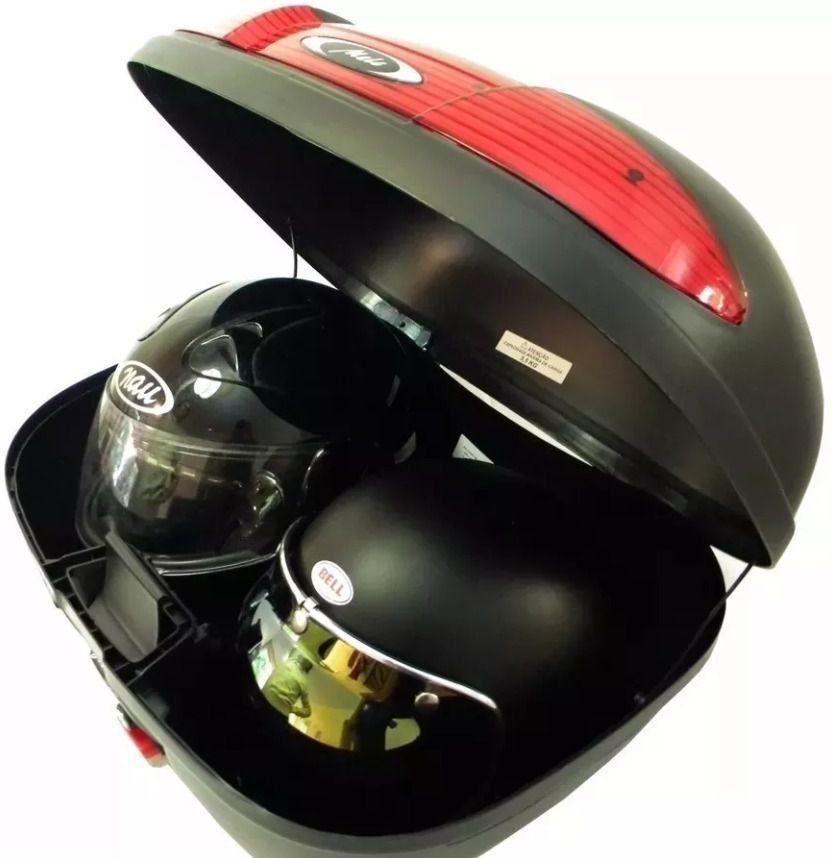 Bauleto Melc 45L Vermelho + Bagageiro XRE 300 / Bros 150 / Falcon Bráz Acessórios