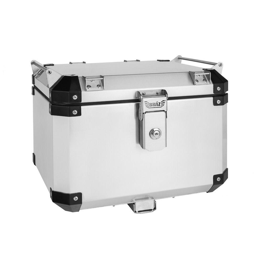 Bauleto Atacama 43L Aluminio Escovado Top Case Bráz