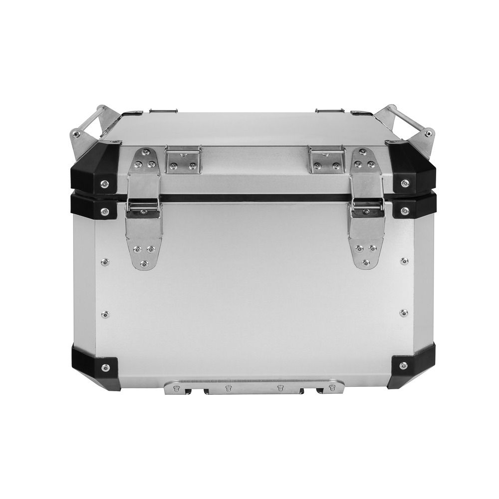 Bauleto Atacama 43L MT-09 Tracer Aluminio Top Case Bráz Escovado