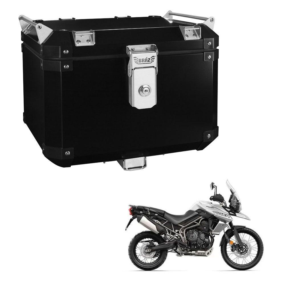 Bauleto Atacama 43L Tiger 800 Aluminio Preto Top Case Bráz  - Motorshopp