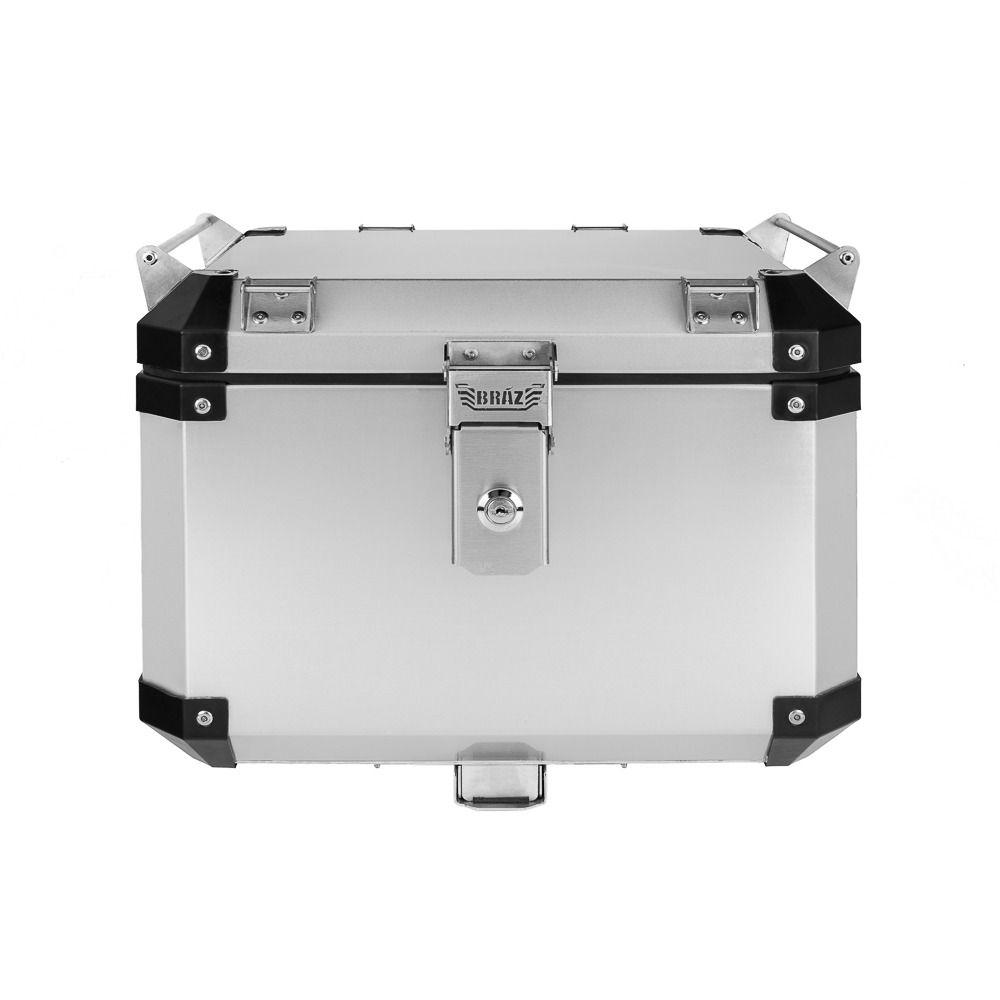 Bauleto Atacama 43L Versys 1000 Aluminio Escovado Top Case Bráz