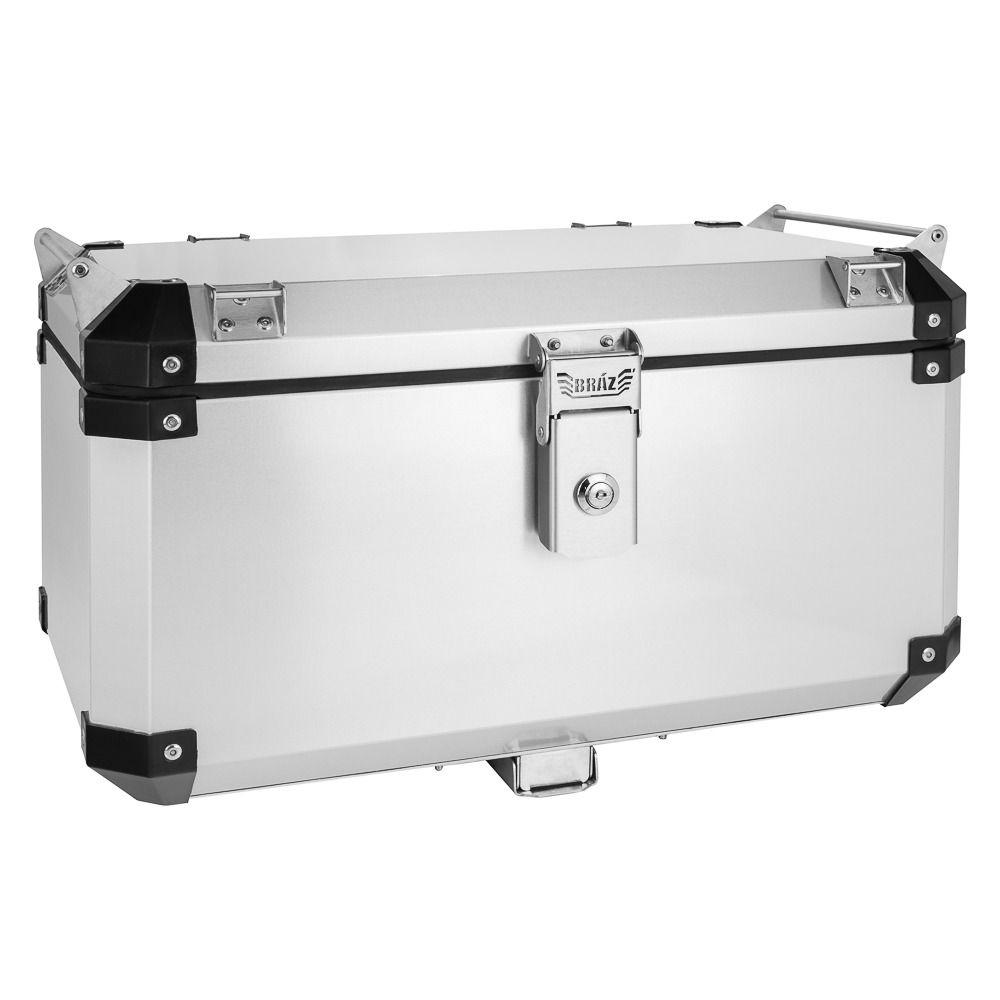 Bauleto Atacama 55L Xre 300 Aluminio Top Case Escovado Bráz