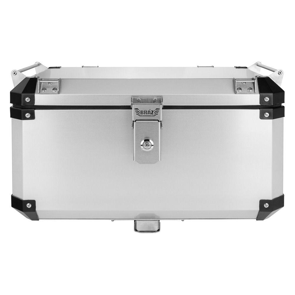 Bauleto Atacama Transalp 700 Aluminio 55L Escovado Top Case Bráz