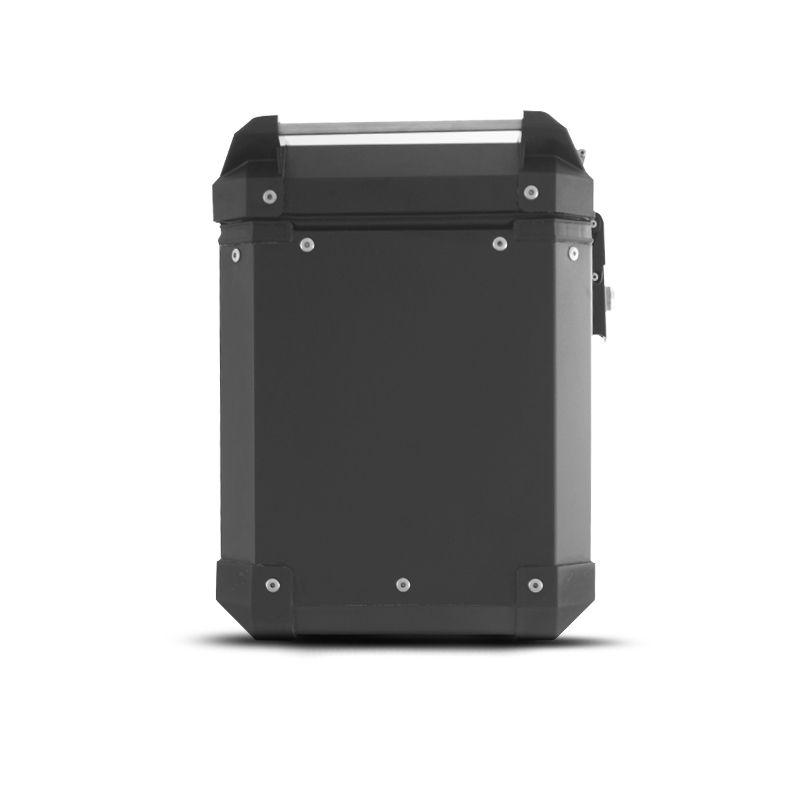 Bauleto Lateral 33 Litros Universal Alumínio Par Roncar  - Motorshopp