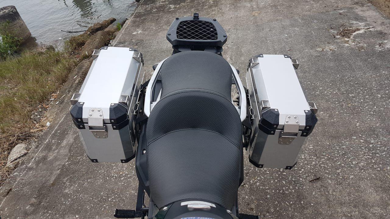 Bauletos laterais 33L escovado Bráz Tenere 250