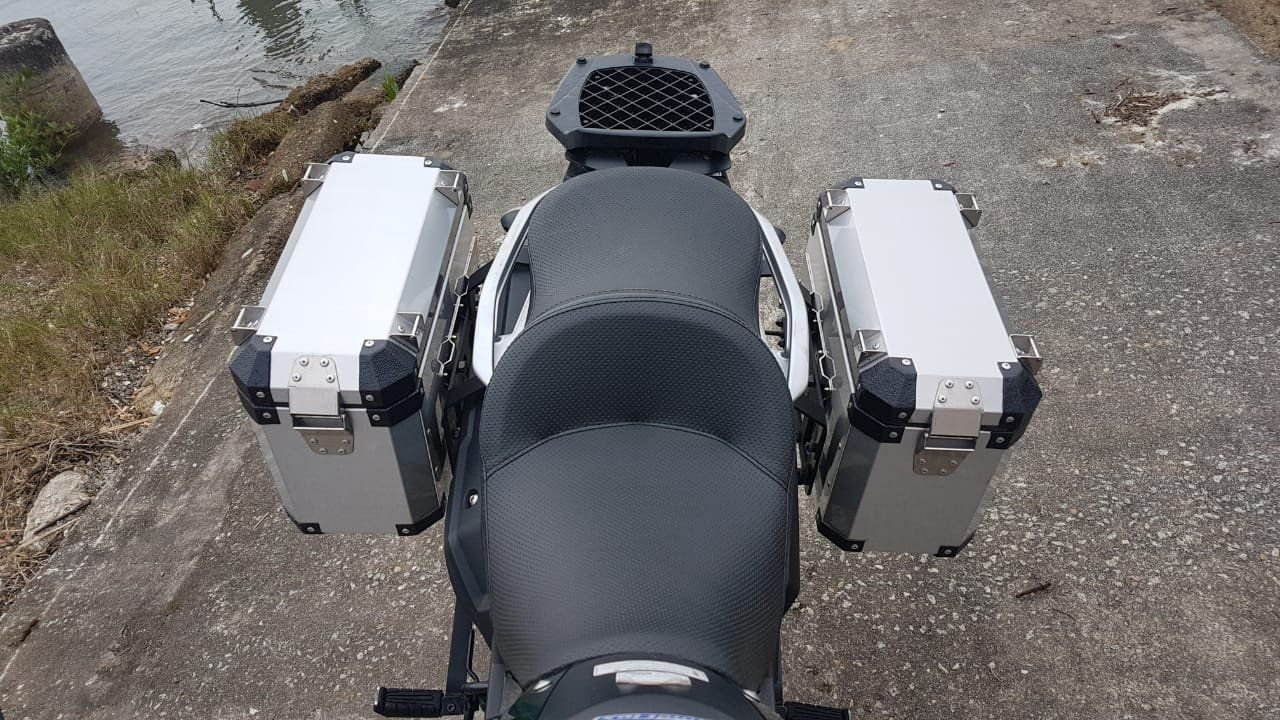 Bauletos Laterais 33L Tenere 250 Escovado Bráz  - Motorshopp