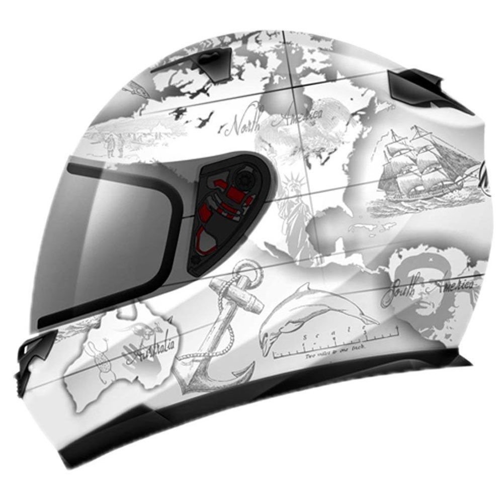 Capacete Mt Blade Global Adventure White