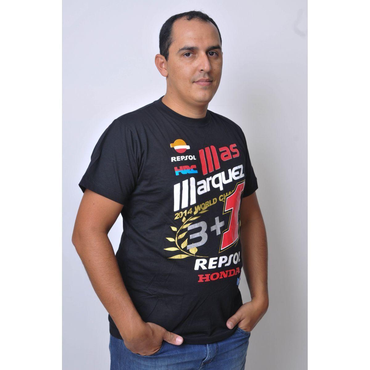 Camiseta Marc Marquez Champion Powered  - Motorshopp