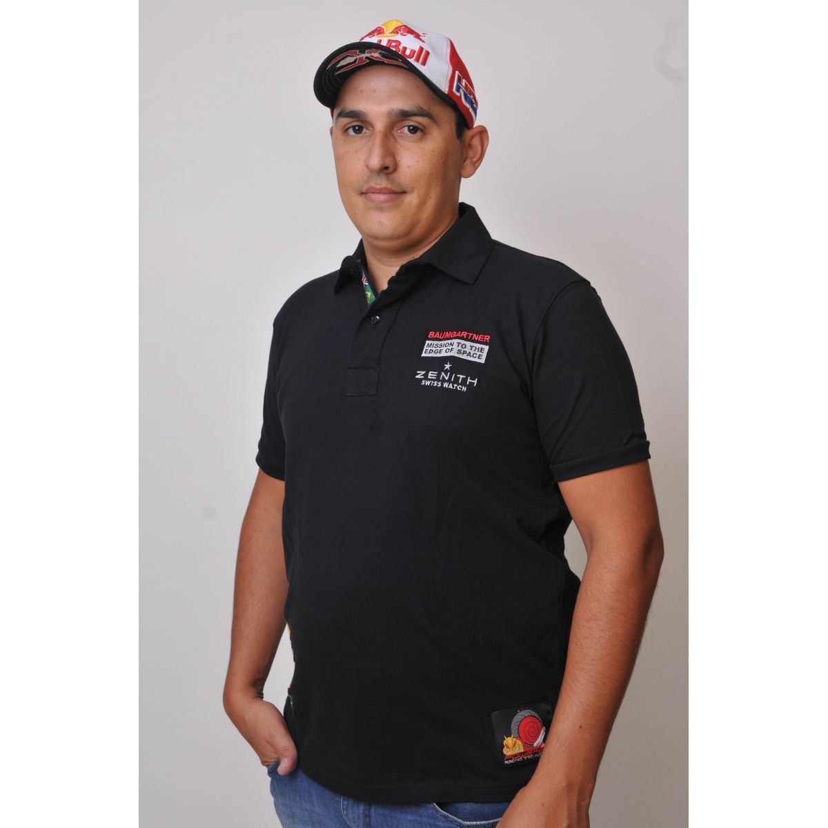 Camiseta Polo Red Bull Stratos Powered  - Motorshopp